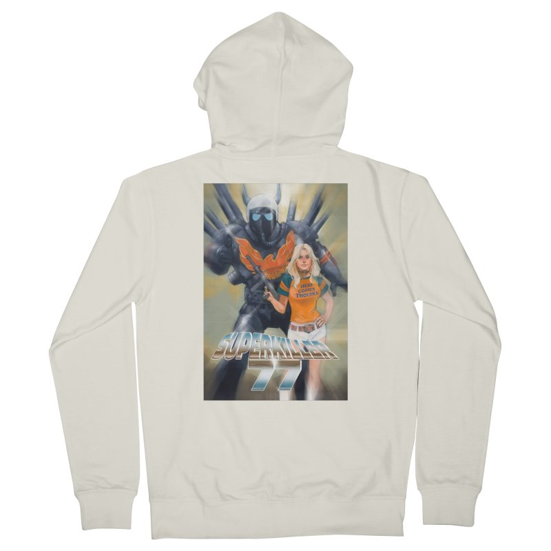 Superkiller 77 Men's French Terry Zip-Up Hoody by Phil Noto's Shop