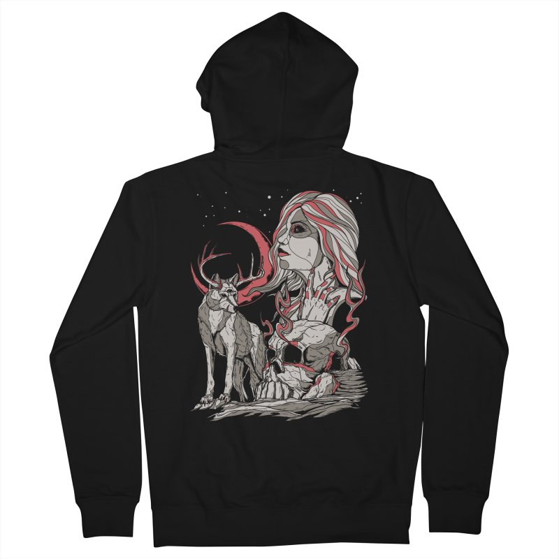 Guardian at Skullcap Men's Zip-Up Hoody by Phil Ryan's Artist Shop