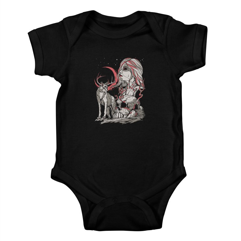 Guardian at Skullcap Kids Baby Bodysuit by Phil Ryan's Artist Shop