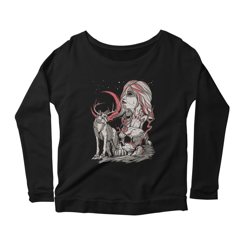 Guardian at Skullcap Women's Longsleeve Scoopneck  by Phil Ryan's Artist Shop