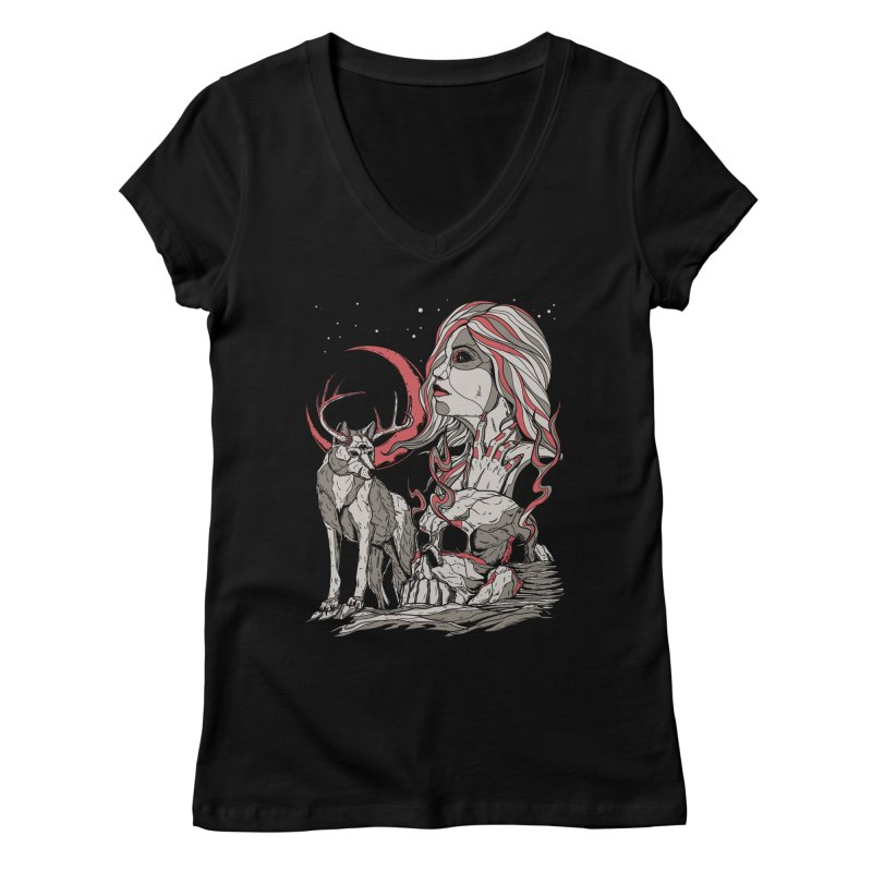 Guardian at Skullcap Women's V-Neck by Phil Ryan's Artist Shop