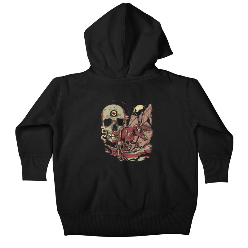 Good Times in Time Kids Baby Zip-Up Hoody by Phil Ryan's Artist Shop