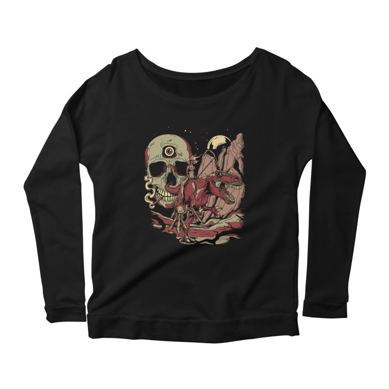 Good Times in Time Women's Longsleeve Scoopneck  by Phil Ryan's Artist Shop