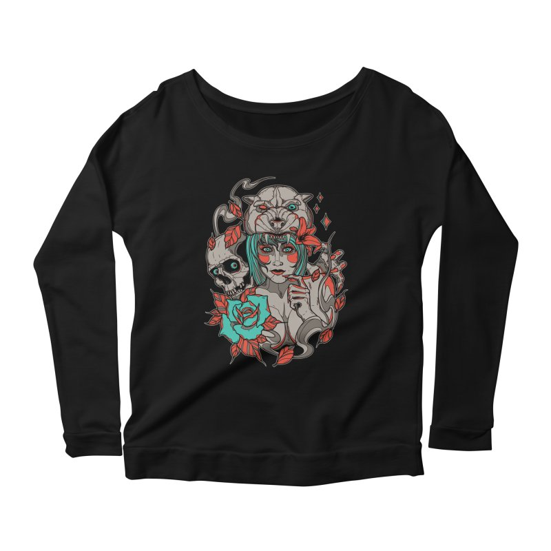 Burning Bright Women's Longsleeve Scoopneck  by Phil Ryan's Artist Shop
