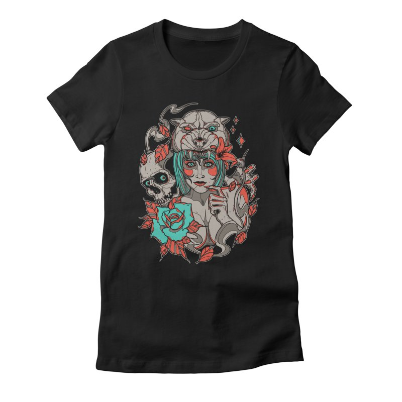 Burning Bright Women's Fitted T-Shirt by Phil Ryan's Artist Shop