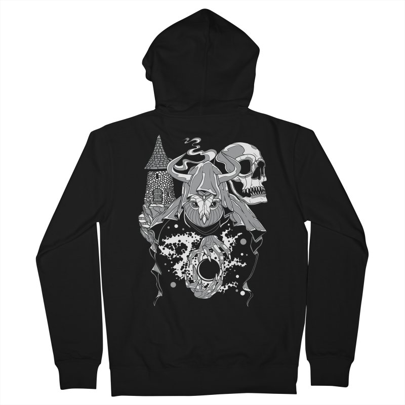 Curse of the Owl Wizard Men's Zip-Up Hoody by Phil Ryan's Artist Shop