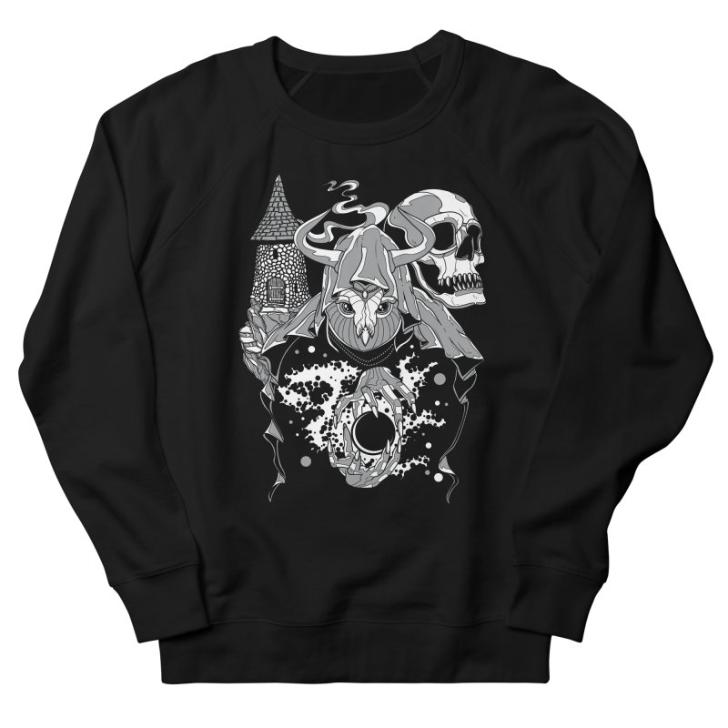 Curse of the Owl Wizard Men's Sweatshirt by Phil Ryan's Artist Shop