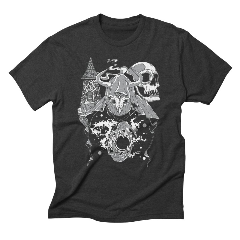 Curse of the Owl Wizard Men's Triblend T-Shirt by Phil Ryan's Artist Shop