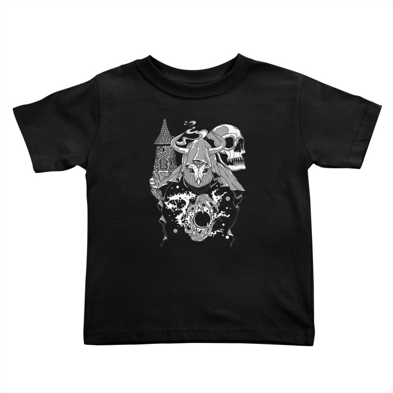 Curse of the Owl Wizard Kids Toddler T-Shirt by Phil Ryan's Artist Shop