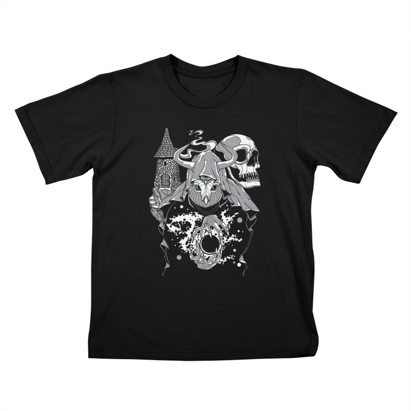 Curse of the Owl Wizard Kids T-shirt by Phil Ryan's Artist Shop