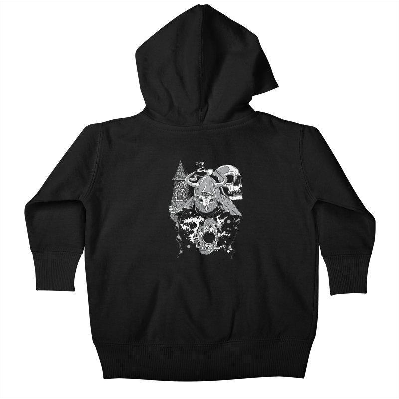 Curse of the Owl Wizard Kids Baby Zip-Up Hoody by Phil Ryan's Artist Shop