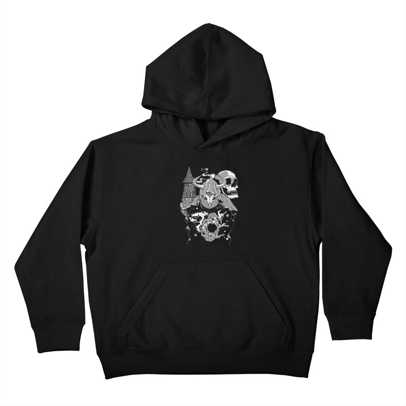 Curse of the Owl Wizard Kids Pullover Hoody by Phil Ryan's Artist Shop