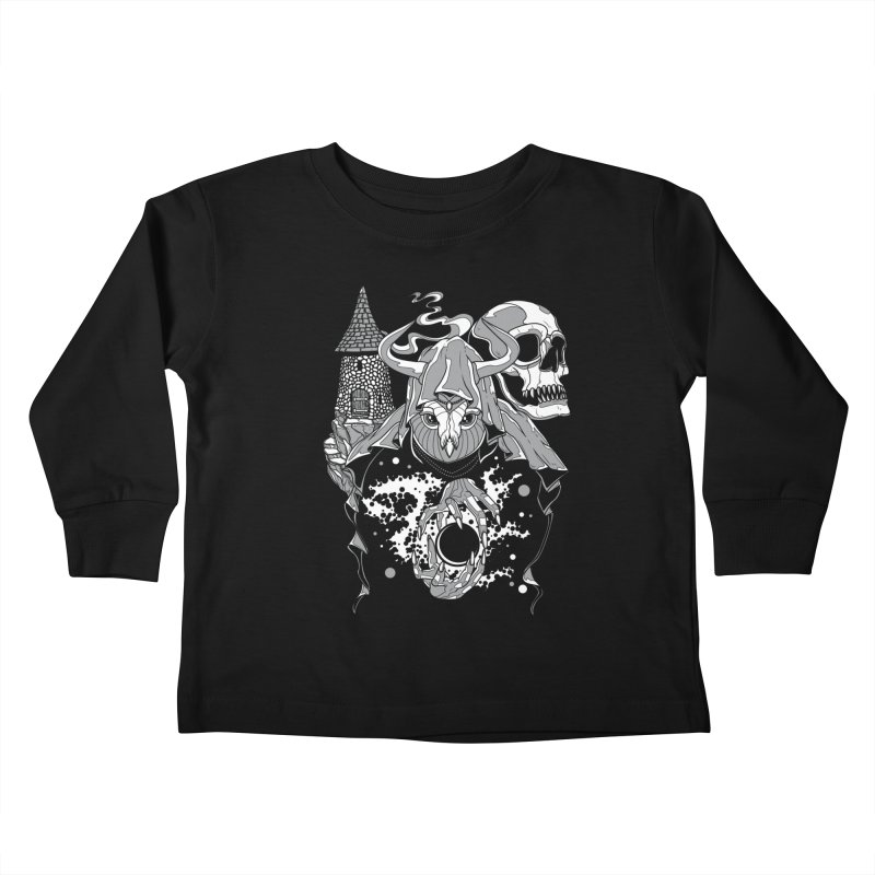 Curse of the Owl Wizard Kids Toddler Longsleeve T-Shirt by Phil Ryan's Artist Shop