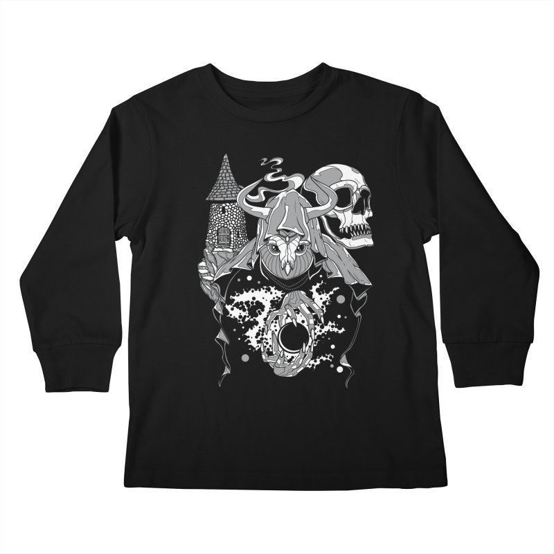 Curse of the Owl Wizard Kids Longsleeve T-Shirt by Phil Ryan's Artist Shop