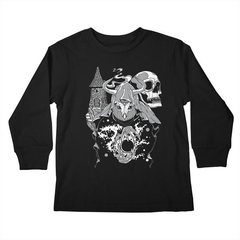 Curse of the Owl Wizard Kids Longsleeve T-Shirt by Phil Ryan's Artist Shop
