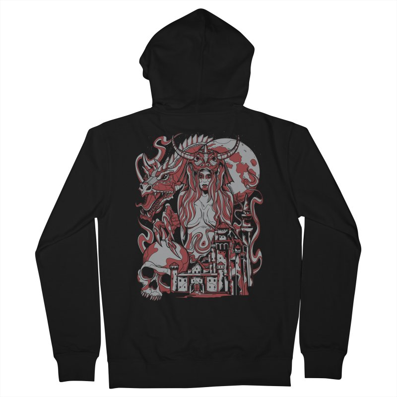 Dragon Priest Women's Zip-Up Hoody by Phil Ryan's Artist Shop