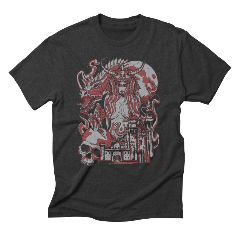 Dragon Priest Men's Triblend T-shirt by Phil Ryan's Artist Shop