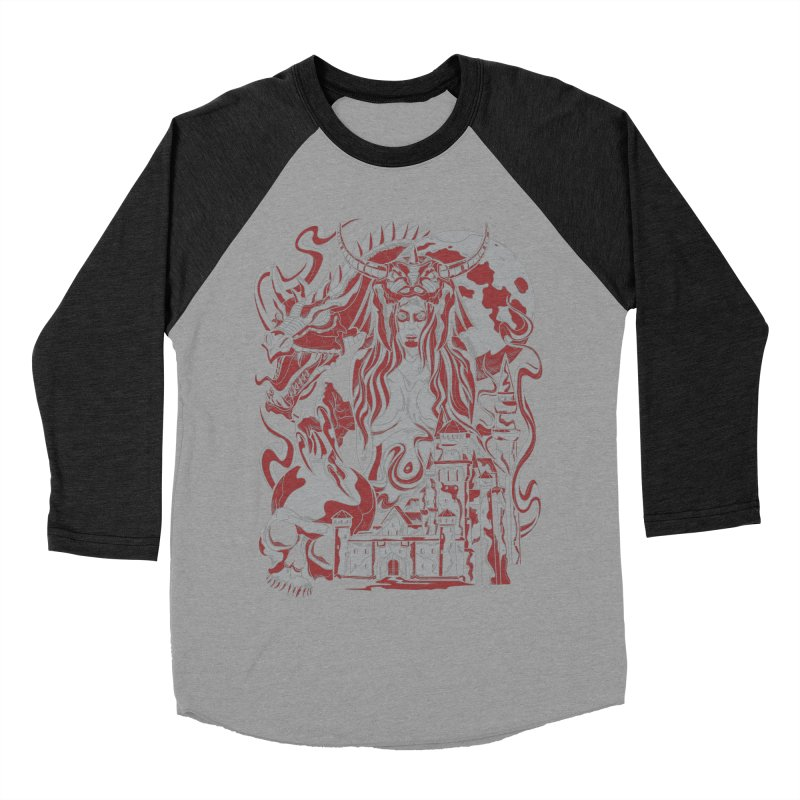 Dragon Priest Women's Baseball Triblend T-Shirt by Phil Ryan's Artist Shop