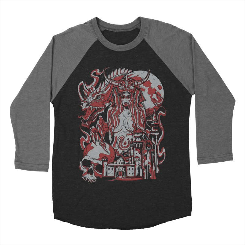Dragon Priest Men's Baseball Triblend T-Shirt by Phil Ryan's Artist Shop