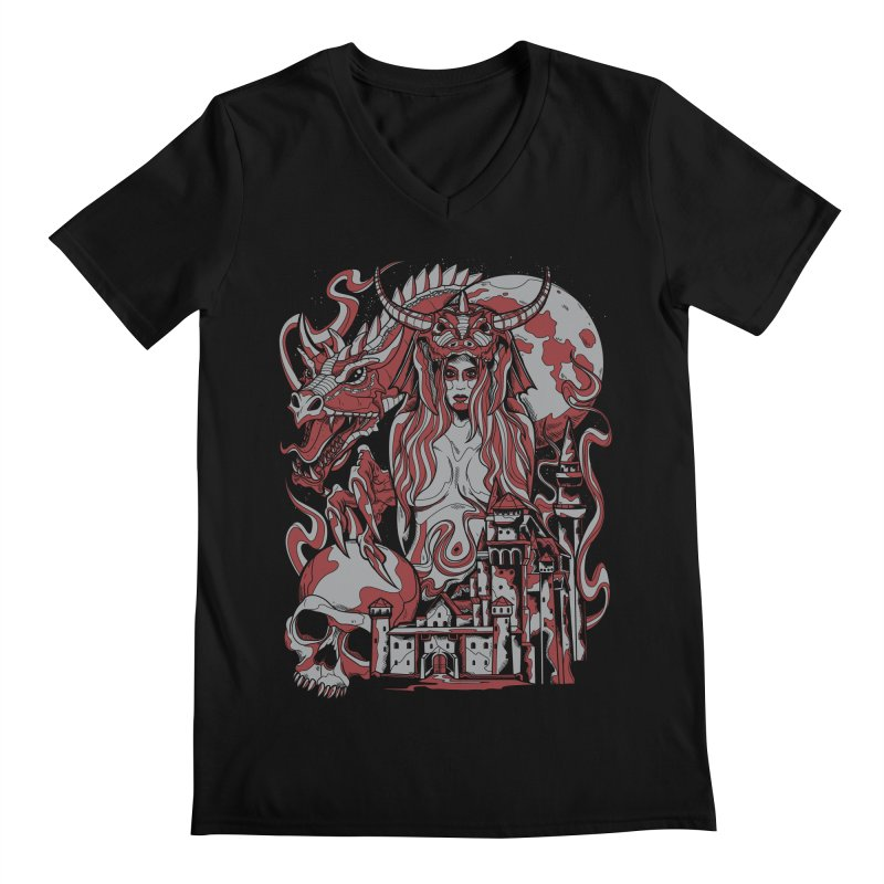 Dragon Priest Men's V-Neck by Phil Ryan's Artist Shop