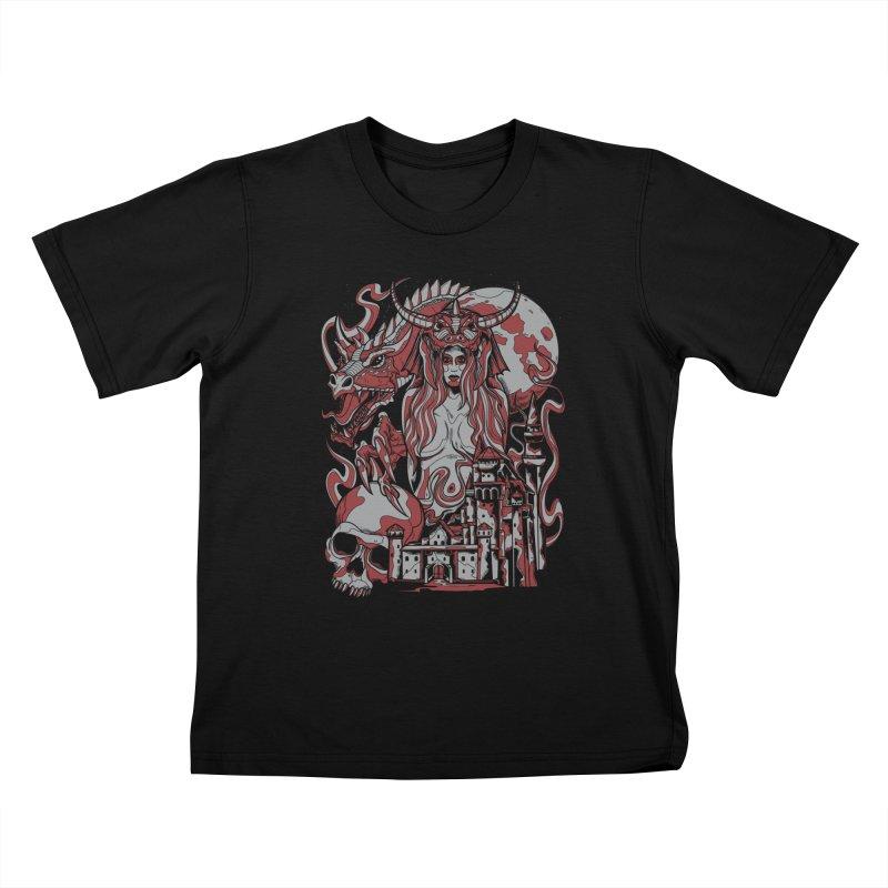 Dragon Priest Kids T-shirt by Phil Ryan's Artist Shop