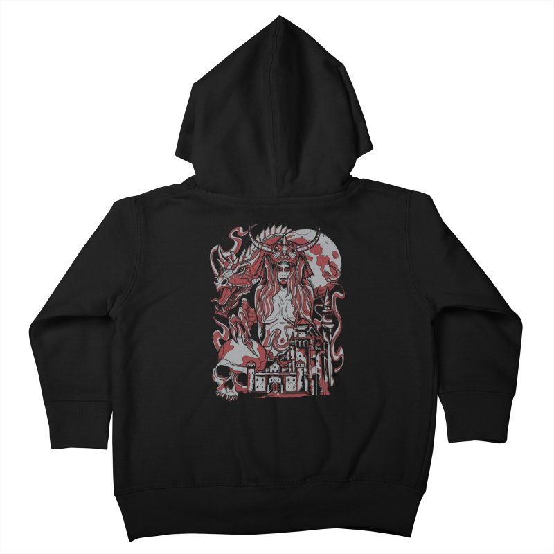 Dragon Priest Kids Toddler Zip-Up Hoody by Phil Ryan's Artist Shop