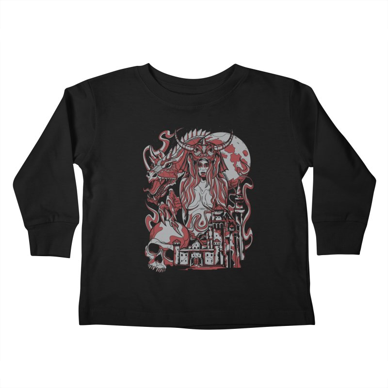 Dragon Priest Kids Toddler Longsleeve T-Shirt by Phil Ryan's Artist Shop