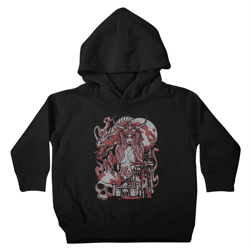 Dragon Priest Kids Toddler Pullover Hoody by Phil Ryan's Artist Shop