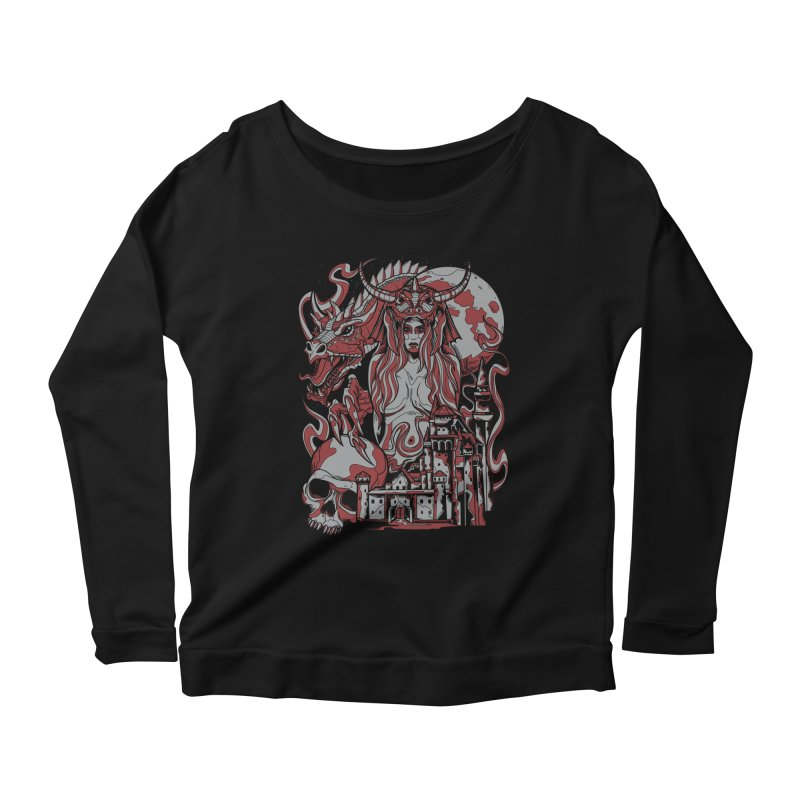 Dragon Priest Women's Longsleeve Scoopneck  by Phil Ryan's Artist Shop
