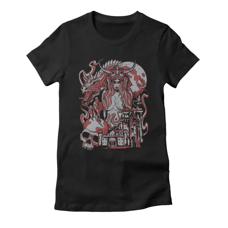 Dragon Priest Women's Fitted T-Shirt by Phil Ryan's Artist Shop