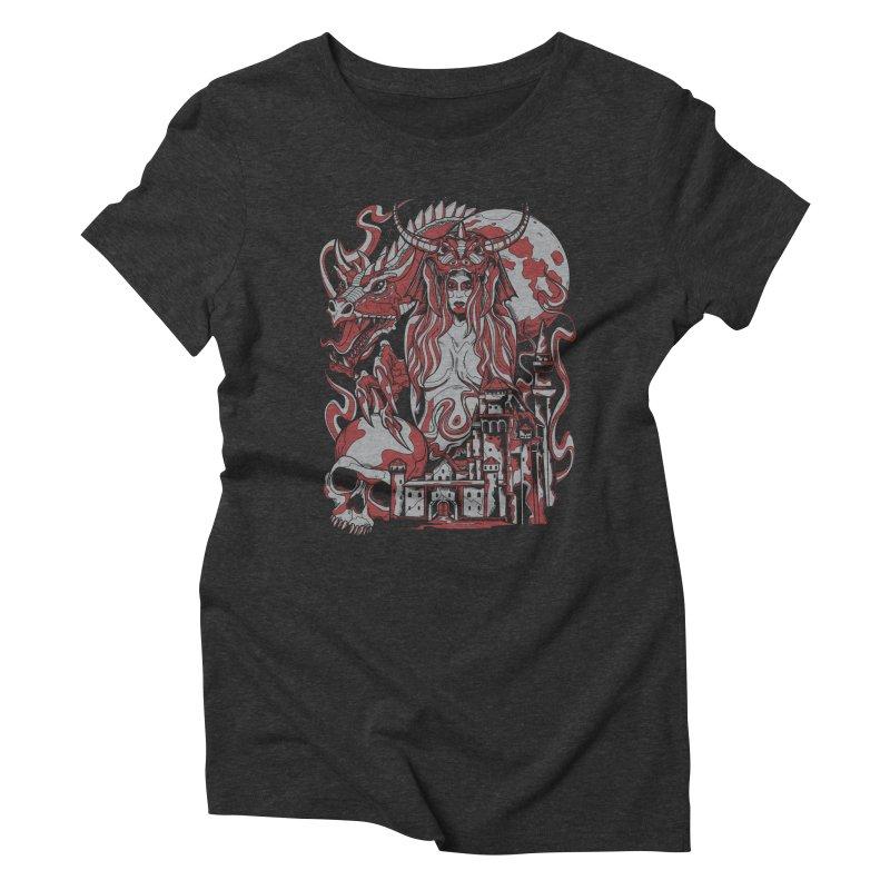 Dragon Priest Women's Triblend T-shirt by Phil Ryan's Artist Shop