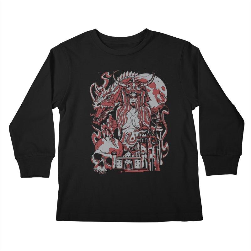 Dragon Priest Kids Longsleeve T-Shirt by Phil Ryan's Artist Shop