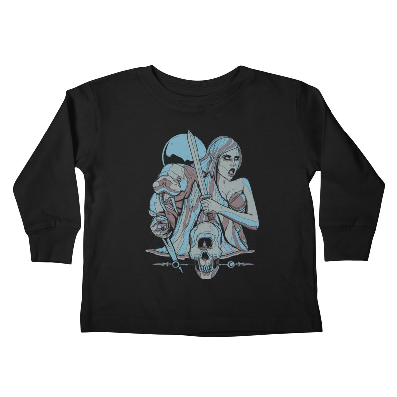 The Battle for Icewall Kids Toddler Longsleeve T-Shirt by Phil Ryan's Artist Shop