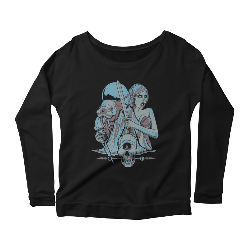 The Battle for Icewall Women's Longsleeve Scoopneck  by Phil Ryan's Artist Shop