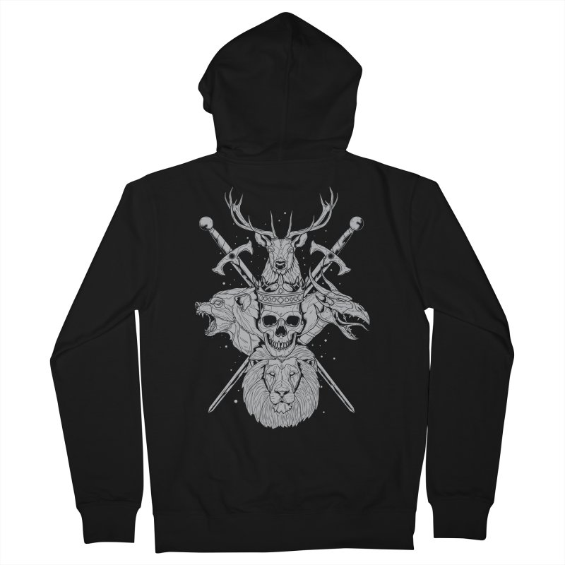 The Game of Thrones Men's Zip-Up Hoody by Phil Ryan's Artist Shop