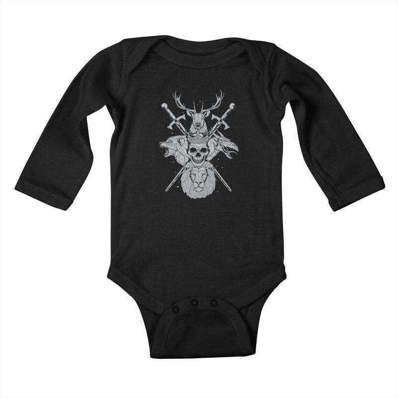The Game of Thrones Kids Baby Longsleeve Bodysuit by Phil Ryan's Artist Shop