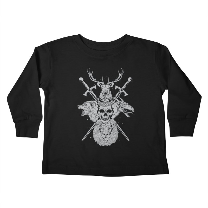 The Game of Thrones Kids Toddler Longsleeve T-Shirt by Phil Ryan's Artist Shop