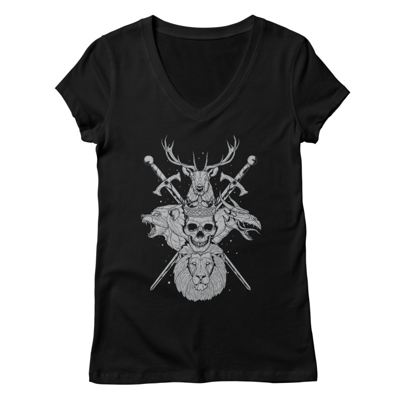 The Game of Thrones Women's V-Neck by Phil Ryan's Artist Shop