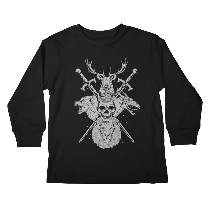 The Game of Thrones Kids Longsleeve T-Shirt by Phil Ryan's Artist Shop