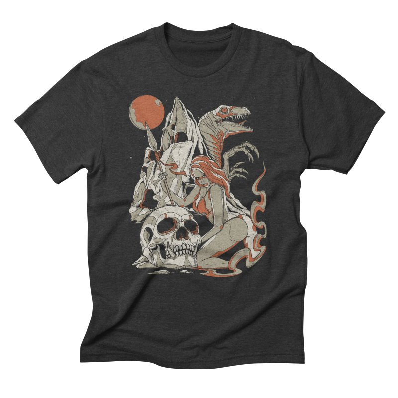 Lord of the Jungle Men's Triblend T-shirt by Phil Ryan's Artist Shop