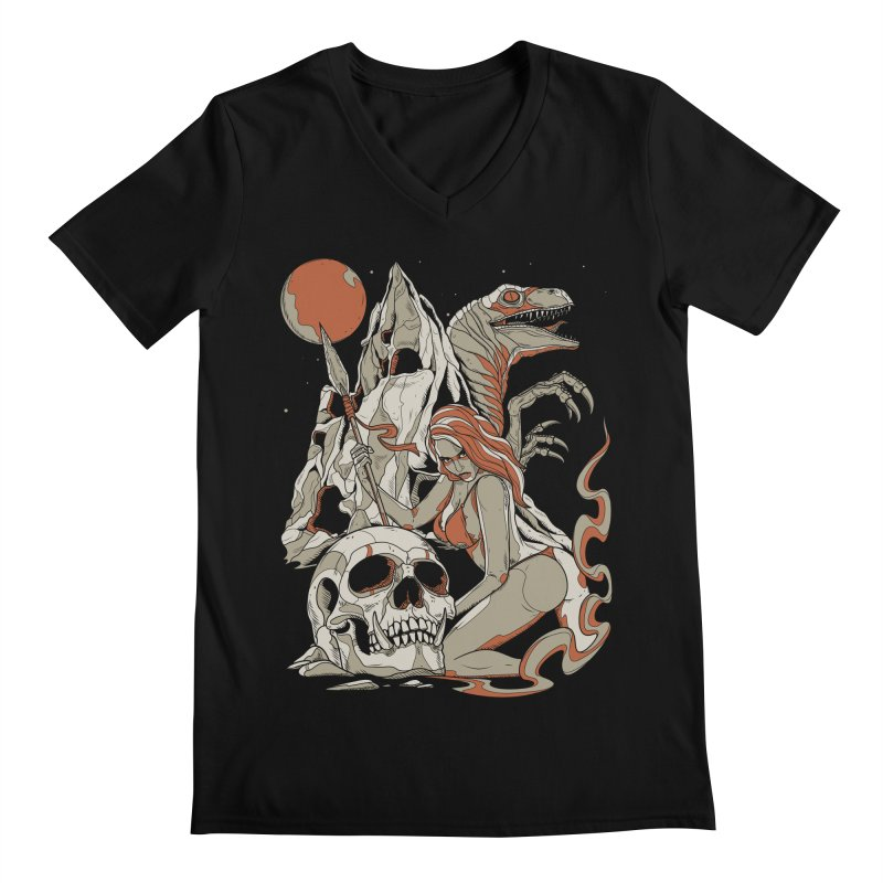 Lord of the Jungle Men's V-Neck by Phil Ryan's Artist Shop