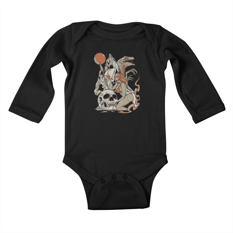 Lord of the Jungle Kids Baby Longsleeve Bodysuit by Phil Ryan's Artist Shop