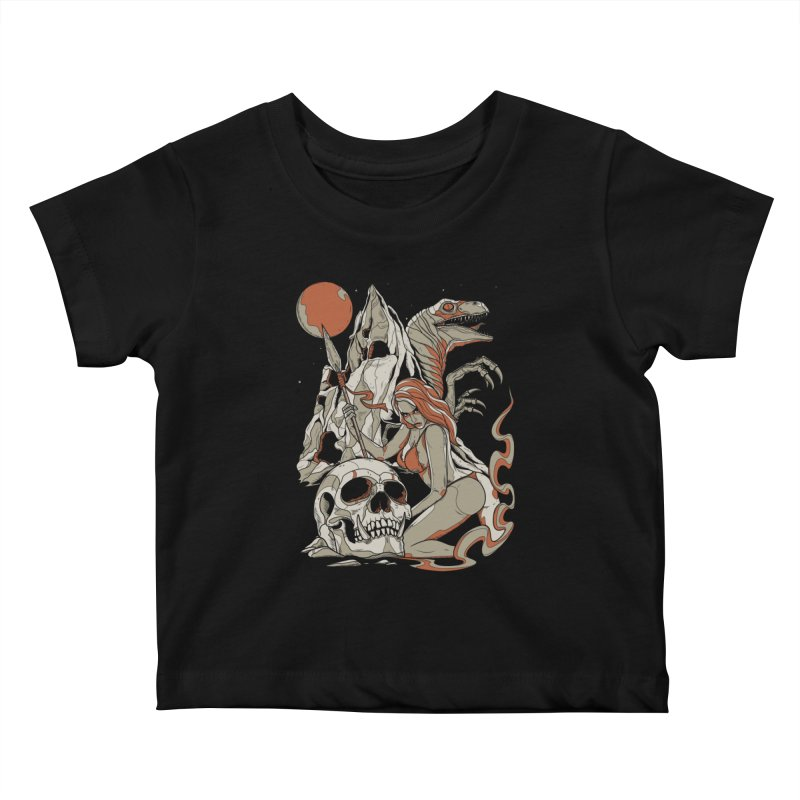 Lord of the Jungle Kids Baby T-Shirt by Phil Ryan's Artist Shop