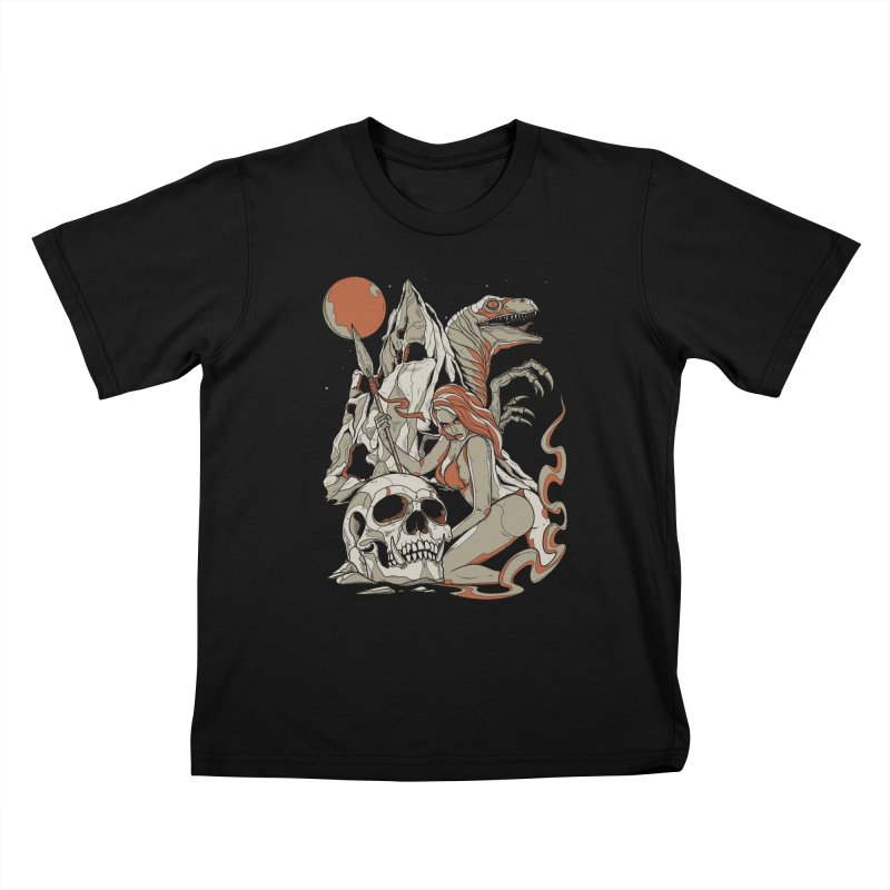 Lord of the Jungle Kids T-shirt by Phil Ryan's Artist Shop