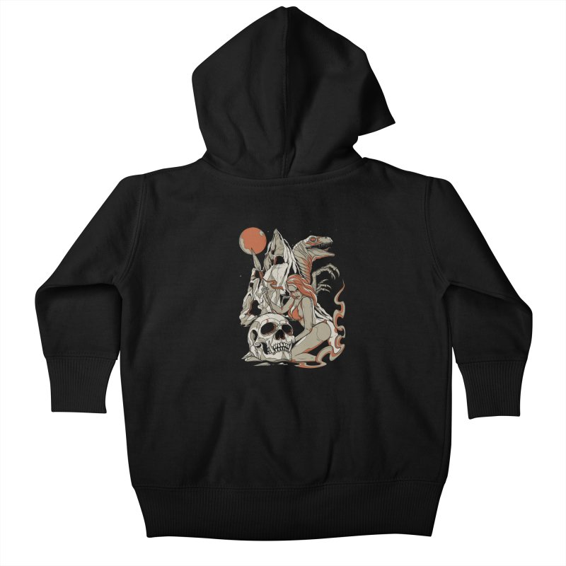 Lord of the Jungle Kids Baby Zip-Up Hoody by Phil Ryan's Artist Shop