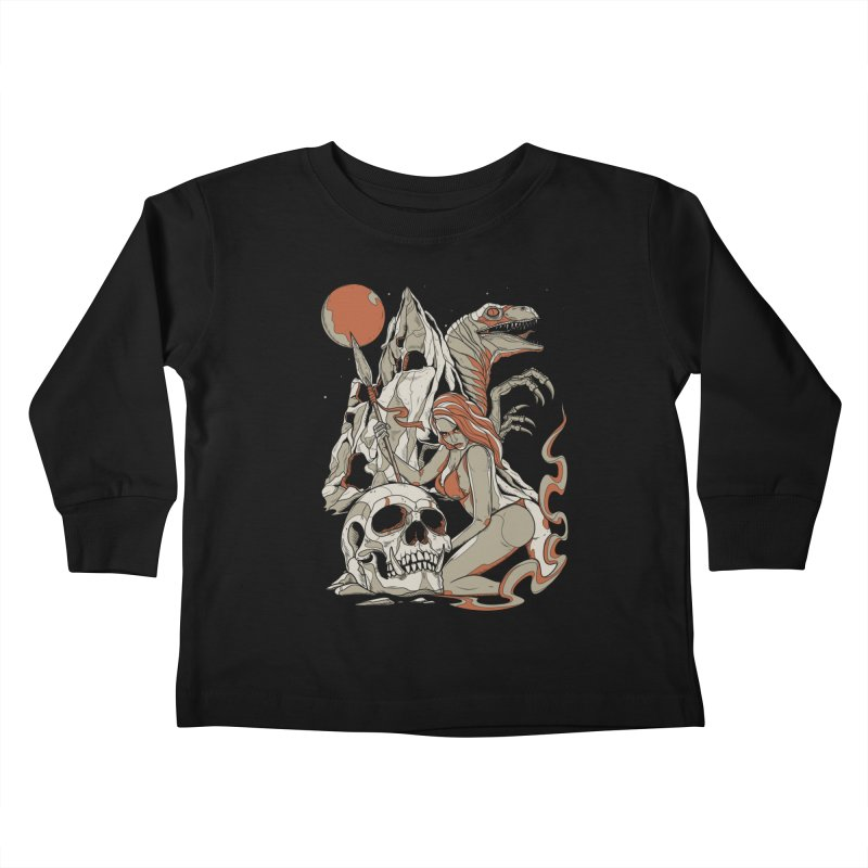 Lord of the Jungle Kids Toddler Longsleeve T-Shirt by Phil Ryan's Artist Shop