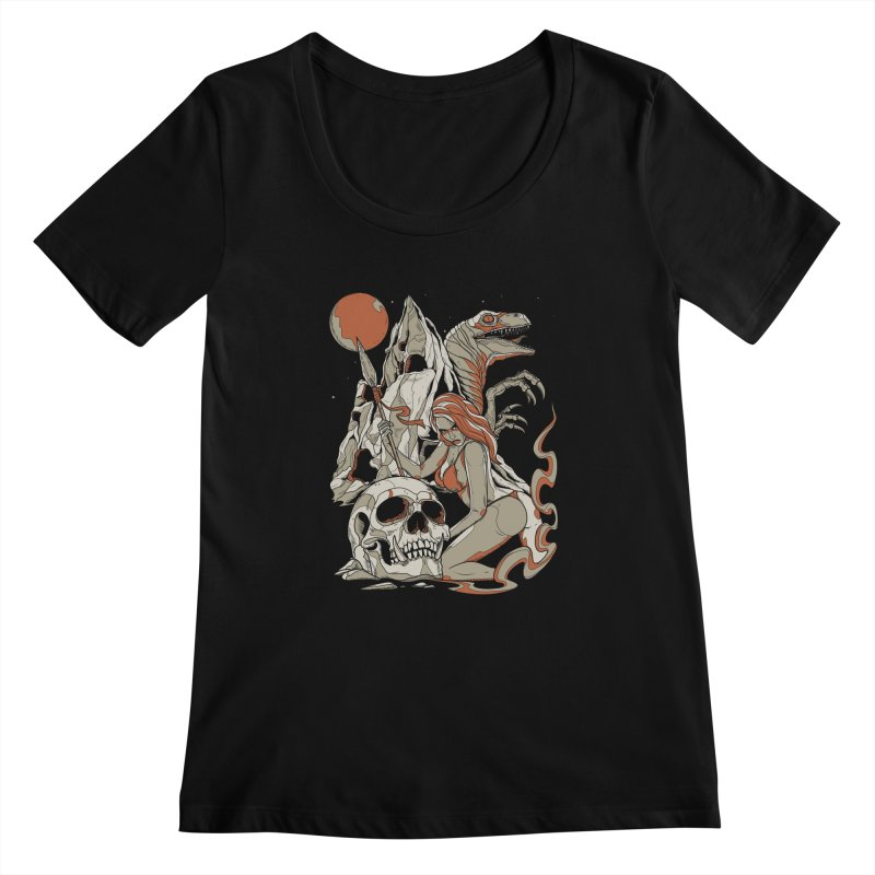 Lord of the Jungle Women's Scoopneck by Phil Ryan's Artist Shop