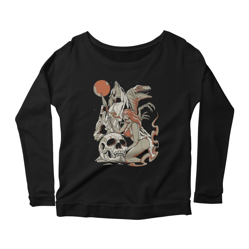 Lord of the Jungle Women's Longsleeve Scoopneck  by Phil Ryan's Artist Shop