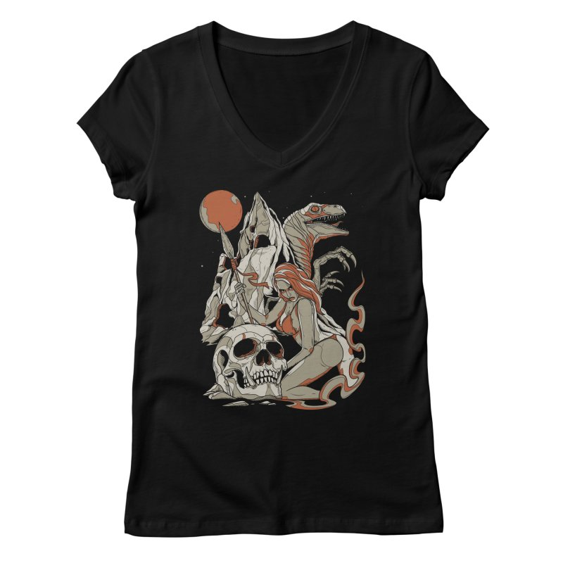 Lord of the Jungle Women's V-Neck by Phil Ryan's Artist Shop