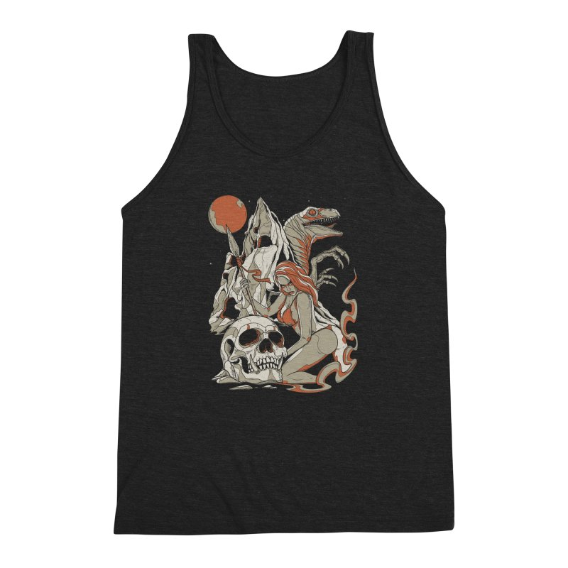 Lord of the Jungle Men's Triblend Tank by Phil Ryan's Artist Shop